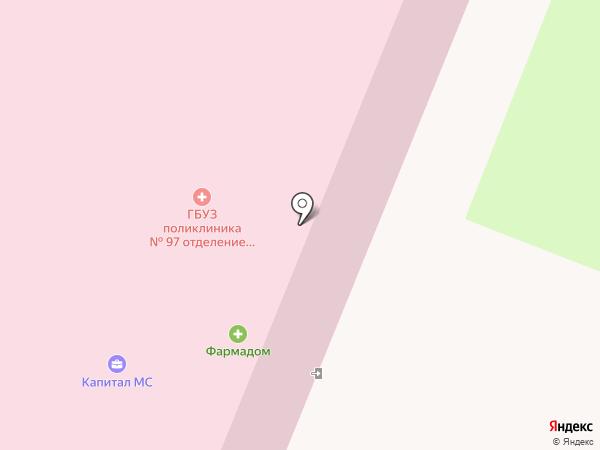 Городская поликлиника №97 на карте Санкт-Петербурга