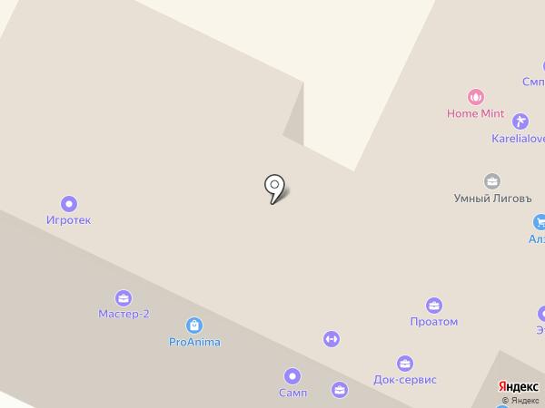 Адвекон на карте Санкт-Петербурга