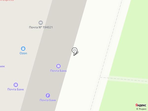 Почтовое отделение №21 на карте Санкт-Петербурга