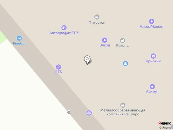 Элиз, ЗАО на карте Санкт-Петербурга