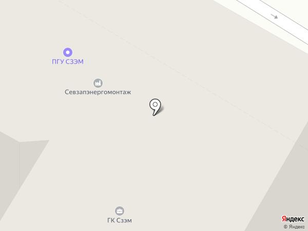 Севзапэнергомонтаж, ЗАО на карте Санкт-Петербурга