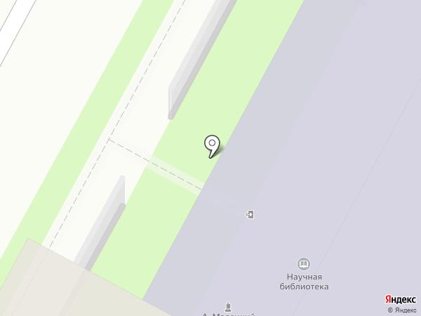 Ленинградская областная универсальная научная библиотека на карте Санкт-Петербурга