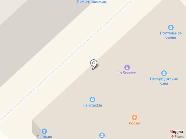 Фрегат на карте Санкт-Петербурга