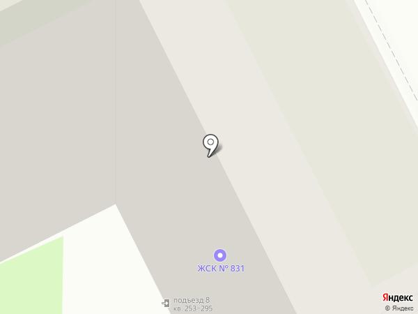 ЖСК №831 на карте Санкт-Петербурга