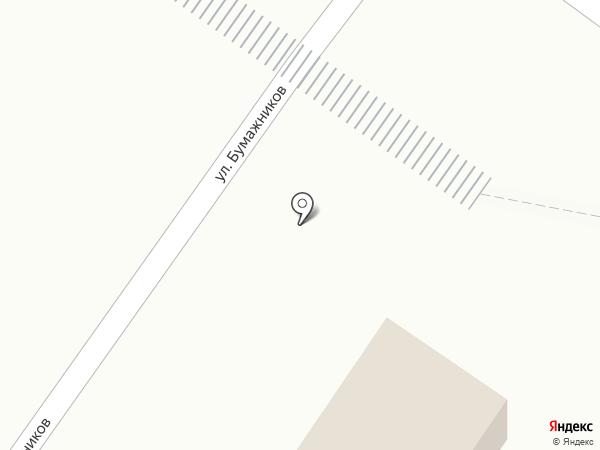 Продуктовый магазин на ул. Бумажников на карте Коммунара