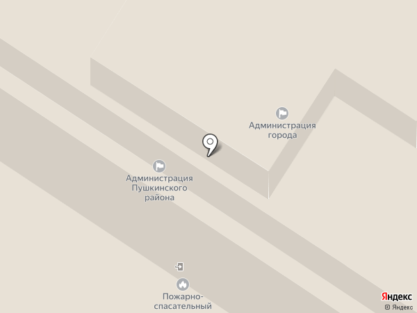Отдел районного хозяйства Администрации Пушкинского района на карте Санкт-Петербурга