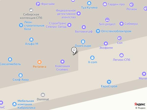 Стройкомплекс, ЗАО на карте Санкт-Петербурга