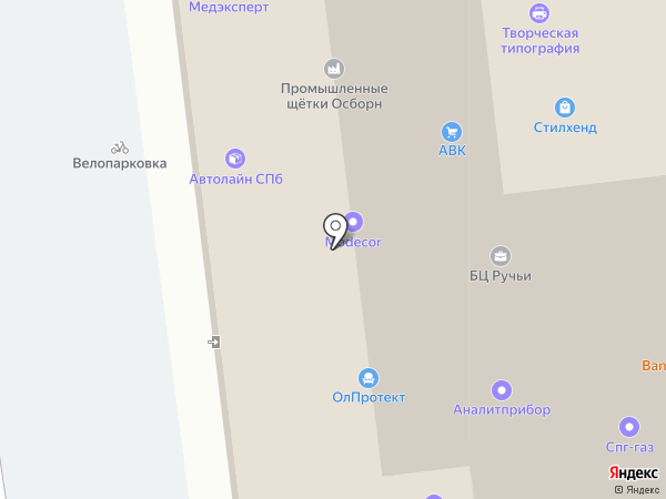 Арита на карте Санкт-Петербурга