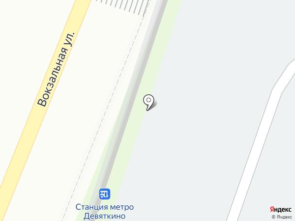 Магазин мяса на Привокзальной площади на карте Мурино