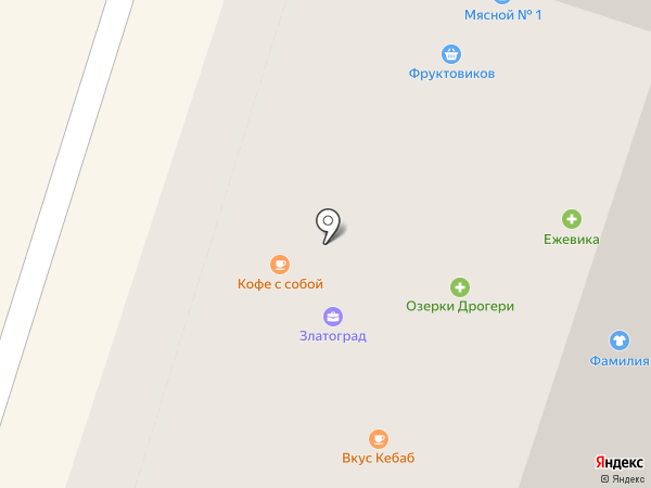 Ежевика на карте Мурино