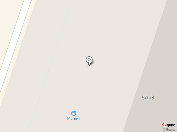 Магнит на карте Мурино