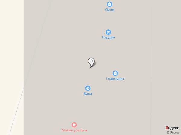 Горден на карте Мурино
