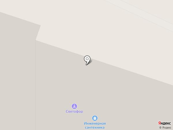 Светофор на карте Мурино