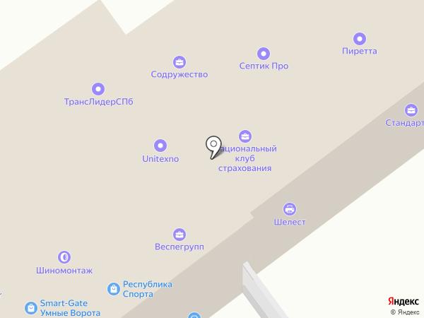 Меркурий на карте Санкт-Петербурга