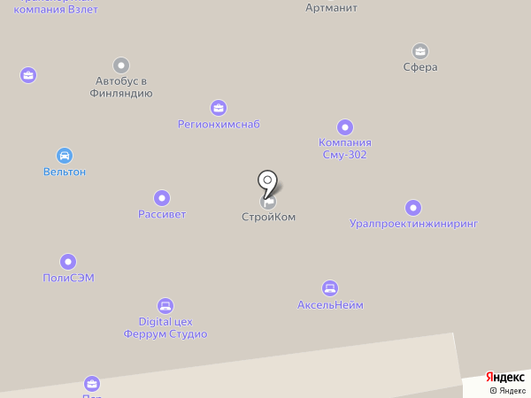 Астеллас Фарма на карте Санкт-Петербурга