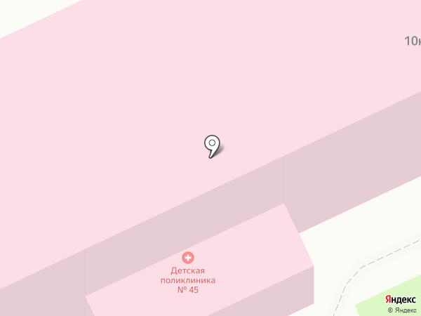 Детская поликлиника №45 на карте Санкт-Петербурга