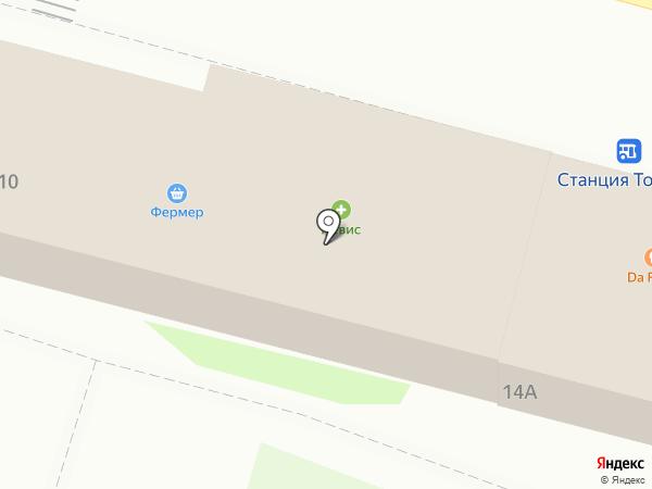 Бистро на Привокзальной на карте Токсово