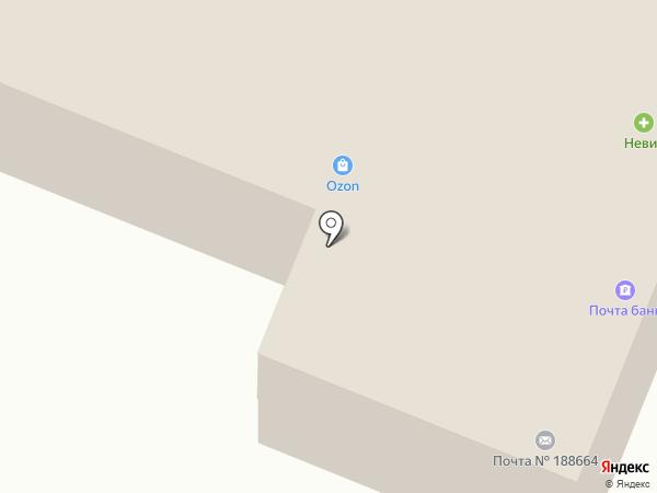 Невис на карте Токсово