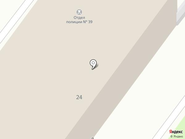 Отдел полиции №39 Управления МВД Колпинского района на карте Санкт-Петербурга