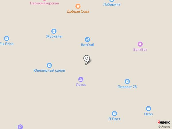 Магазин изделий из серебра на Александровской на карте Всеволожска