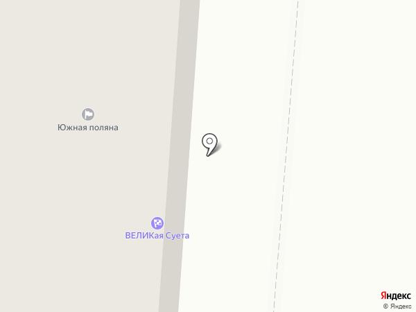 Южная поляна на карте Всеволожска