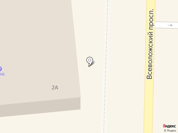 Банкомат, Банк СИАБ, ПАО на карте Всеволожска