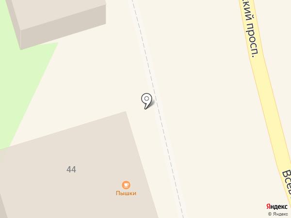 Невская заря на карте Всеволожска