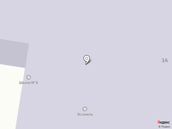 Эссанель на карте Ильичёвска