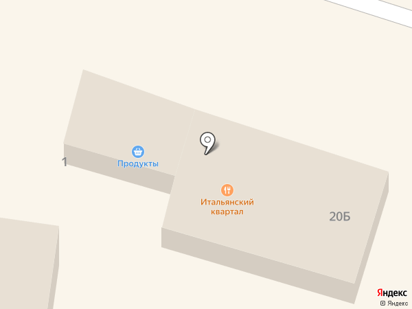 Итальянский квартал на карте Ильичёвска