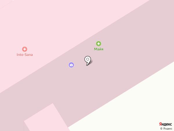 Больничная касса на карте Ильичёвска