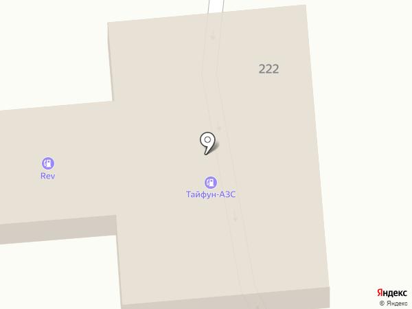 АЗС Rev на карте Бурлачьей Балки