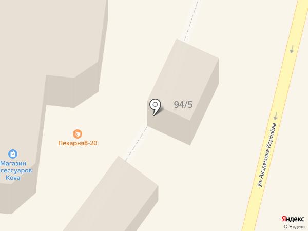 Лепешка на карте Одессы