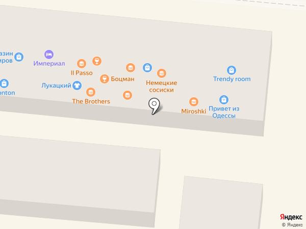 Балаганчик по-одесски на карте Одессы