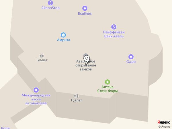 Привоз на карте Одессы