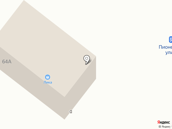 Лика на карте Ульяновки