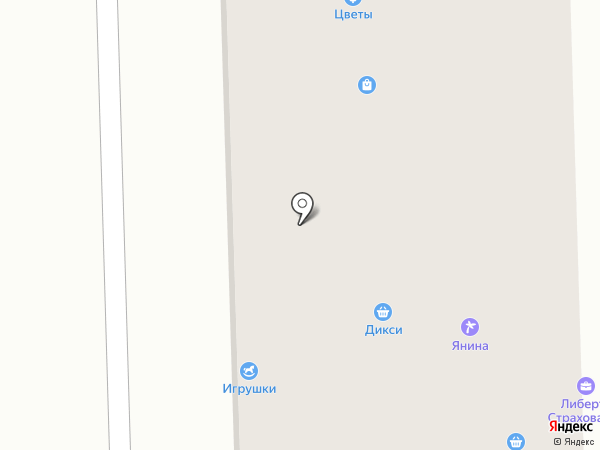Магазин нижнего белья на карте Никольского