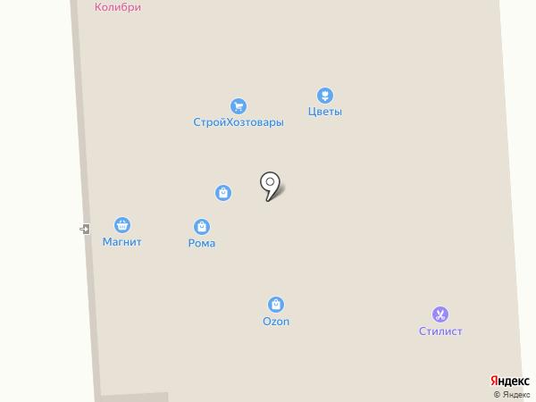 Мясная лавка на ул. Томилина на карте Дубровки