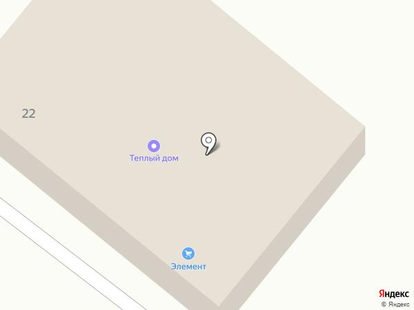 Теплый дом на карте Кировска