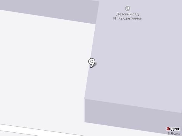 Детский сад №72, Светлячок на карте Великого Новгорода
