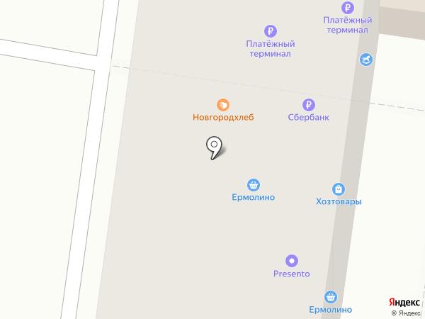 Новгородец на карте Великого Новгорода