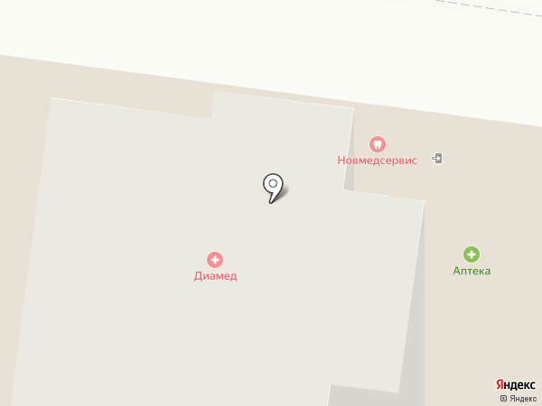Поликлиника Диамед на карте Великого Новгорода