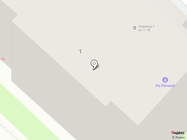 Парикмахерская на Речной, 1 на карте Великого Новгорода