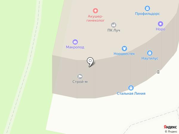 Наутилус на карте Великого Новгорода