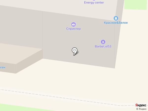 Красная строка на карте Великого Новгорода