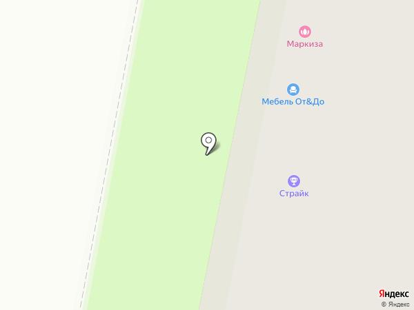 Маркиза на карте Великого Новгорода