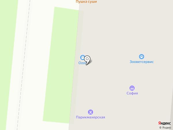 Обувайка на карте Великого Новгорода