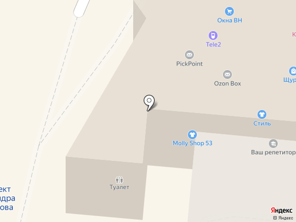 Банкомат, НС банк на карте Великого Новгорода