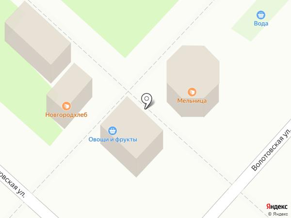 Волотхлеб на карте Великого Новгорода