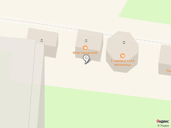 Старорусская мельница на карте Великого Новгорода