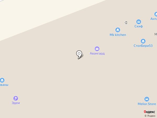 Любимый дом на карте Великого Новгорода